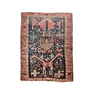Late 19th Century Antique Caucasian Shirvan Prayer Rug- 3′9″ × 5′ For Sale
