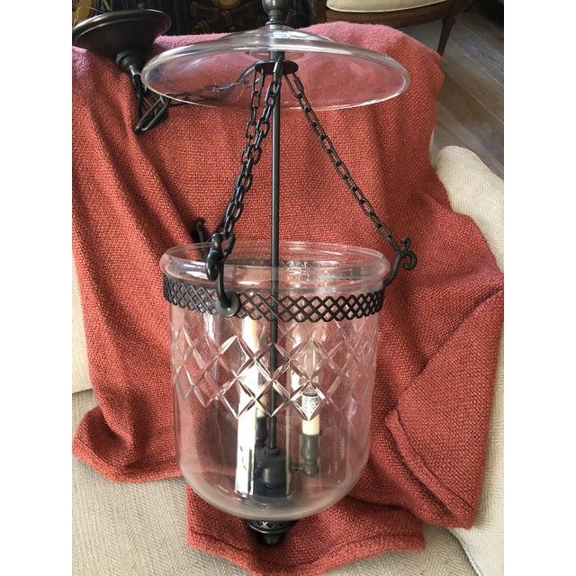 Vintage Cut Glass Bell Jar Lantern For Sale - Image 9 of 10