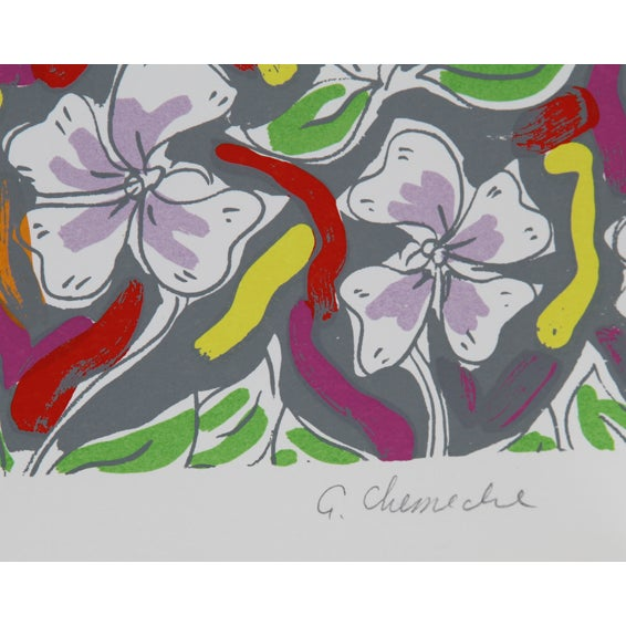 Pattern Field Serigraph by George Chemeche - Image 2 of 2