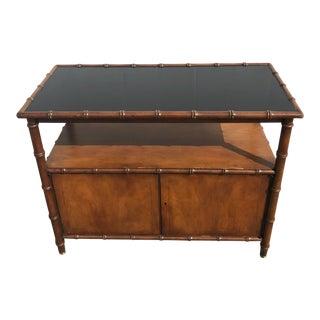 1950s Mid-Century Modern Baker Furniture Chinoise Bar Cart Server