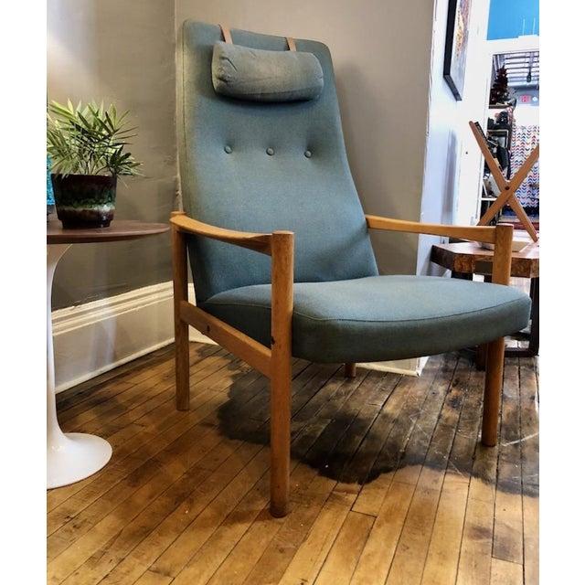Vintage Swedish Modern High-Back Lounge Chair For Sale - Image 11 of 13