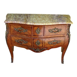 Antique French Bombe Marbletop Commode For Sale