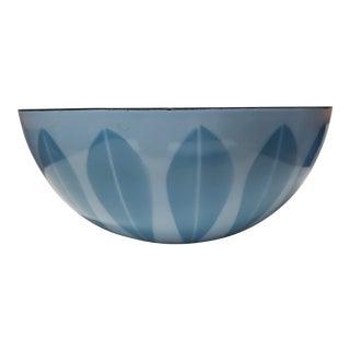 Mid Century Modern Catherinehcatherineholm Large Blue Enamel Lotus Bowl For Sale