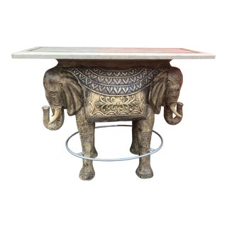 Boho Chic Style Elephant Bar/Table For Sale