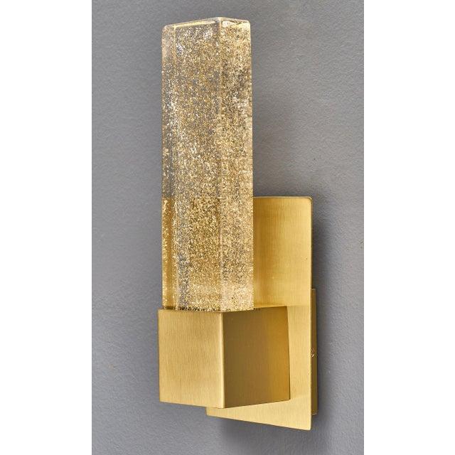 Modern Murano Glass Modern Slab Sconces For Sale - Image 3 of 11