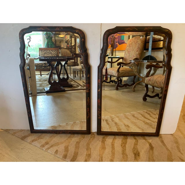 Hand Painted Chinoiserie Mirrors -A Pair For Sale - Image 13 of 13