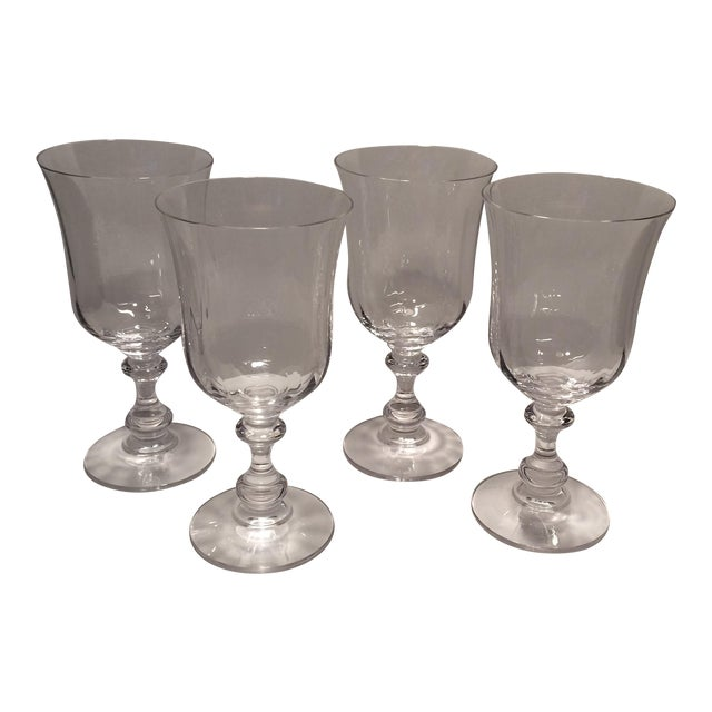 "Vintage Crystal Mikasa ""French Country"" Water Goblets - S/4 - Image 1 of 11"