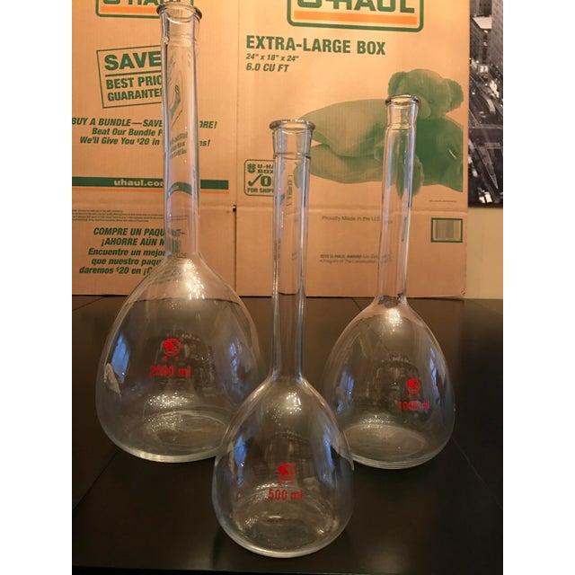 Red Vintage Shuniu Lab Bottles - Set of 3 For Sale - Image 8 of 9