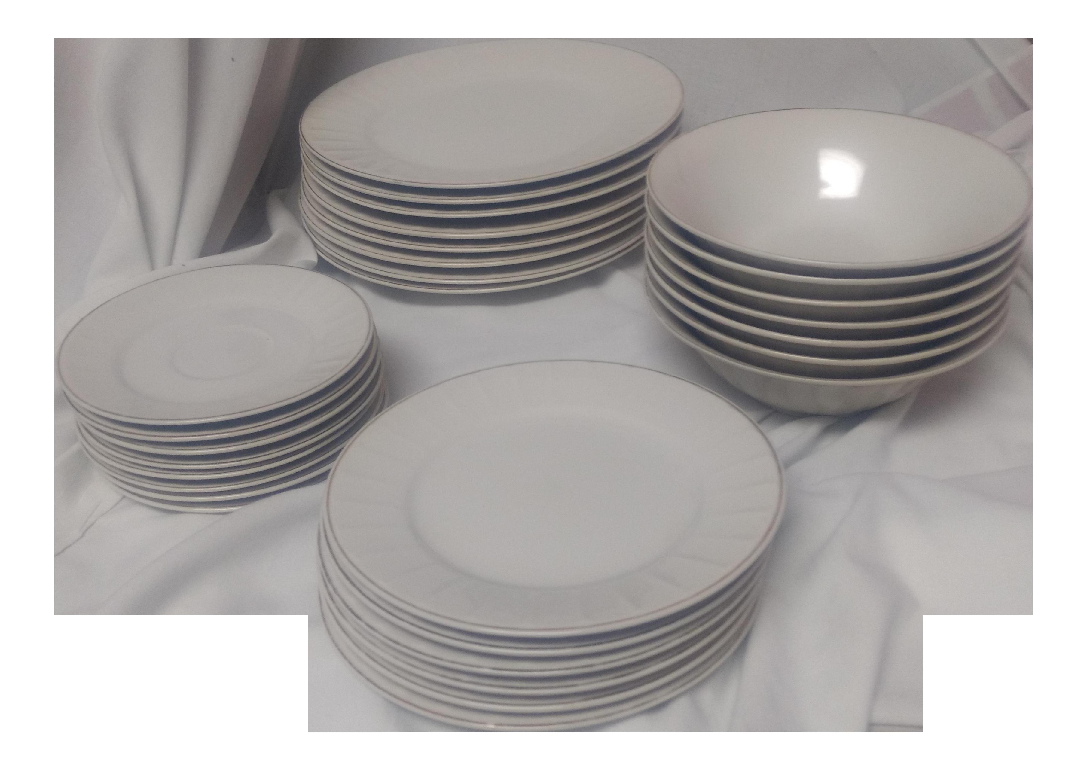 Diadem Fine China Dinnerware - Set of 28 - Image 1 of 5  sc 1 st  Chairish & Diadem Fine China Dinnerware - Set of 28 | Chairish