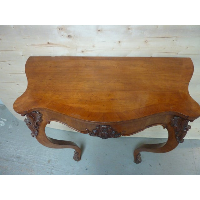 Mid 19th Century 19th Century Rococo Fruitwood Wall Console For Sale - Image 5 of 6