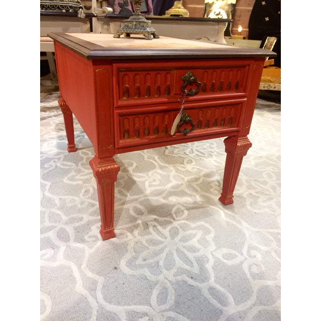 Vintage Coral Accent Table - Image 9 of 9