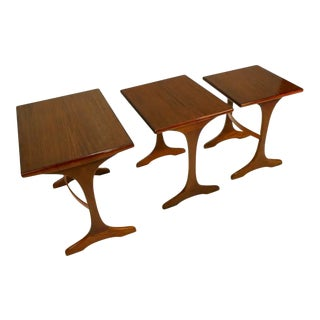 Early Mid-Century Scandinavian Modern Teak G Plan Nesting Table For Sale