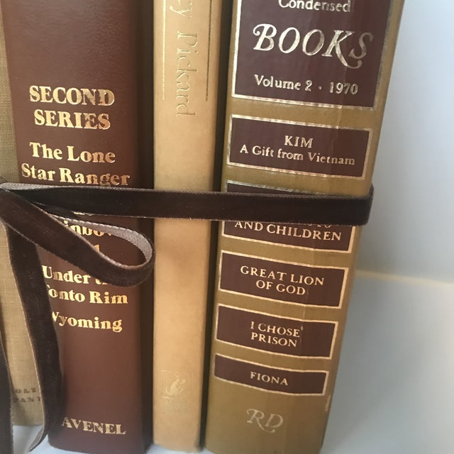 20th Century Americana Rich Gold and Brown Book Bundle - Set of 6 For Sale - Image 6 of 12