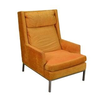 1960s Mid-Century Modern Atomic Orange Armchair For Sale