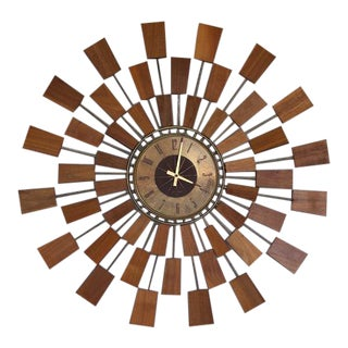 1960s Mid-Century Modern Seth Thomas Wall Clock