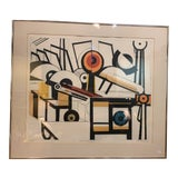 Image of Modern Power Play II Serigraph by M. Feinberg For Sale