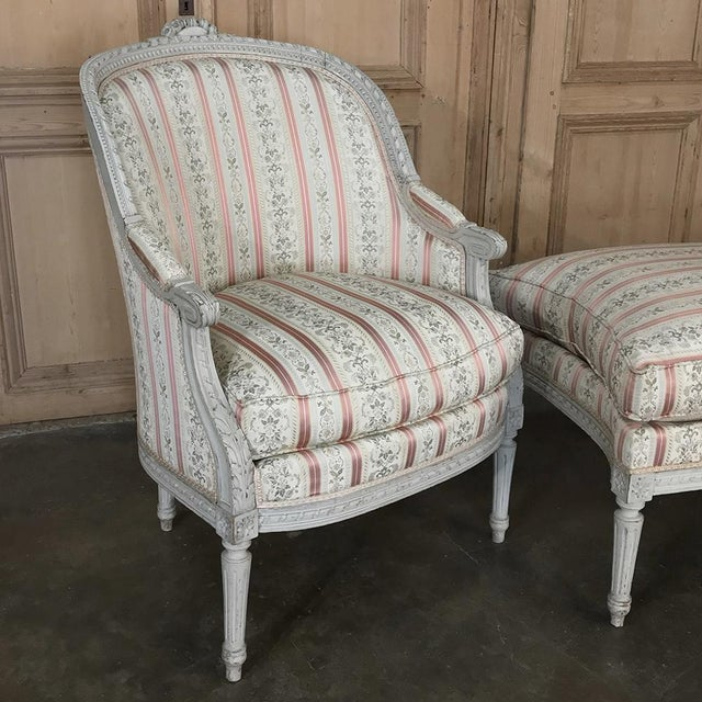 Late 19th Century 19th Century French Louis XV Chaise Duchesse Brisee (Chaise Lounge) For Sale - Image 5 of 13
