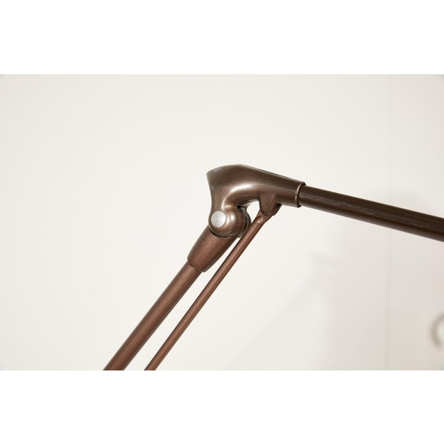 Industrial Articulating Arm Floor Lamp With Magnifier by Dazor For Sale In Atlanta - Image 6 of 12