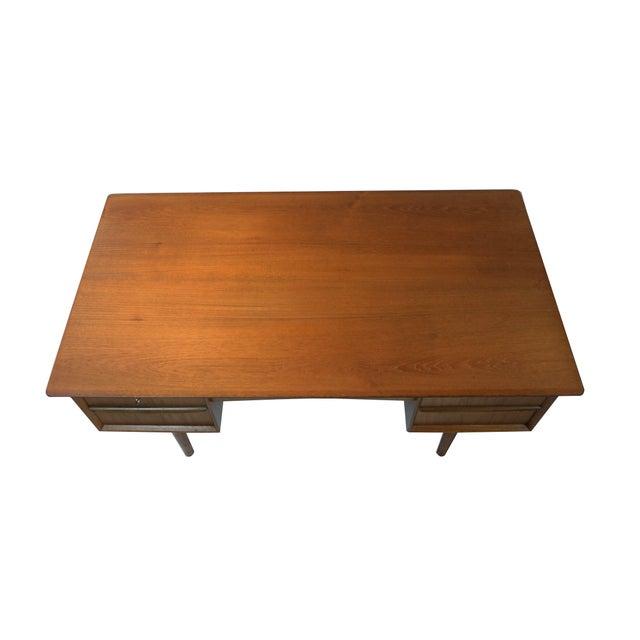 Danish Modern Dual Sided 5 Drawer Desk - Image 7 of 8