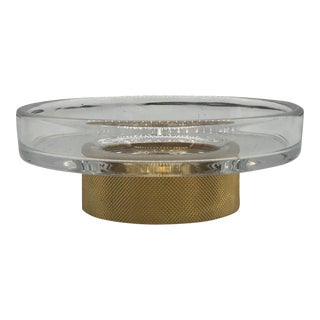 Matte Gold & Crystal Soap Dish For Sale