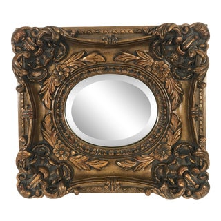Baroque-Style Framed Mirror For Sale