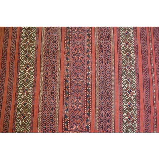 "Vintage Turkish Aztec Print Rug - 5'1"" x 5'3"" - Image 5 of 8"