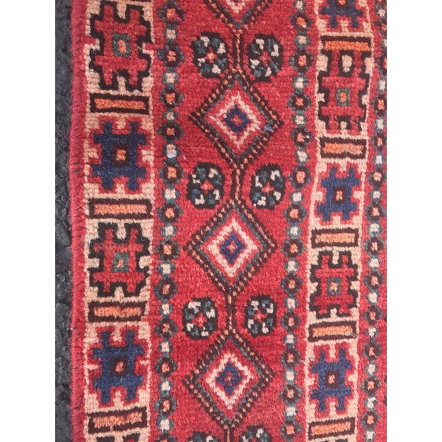 "Vintage Persian Yalameh Area Rug - 7'8"" x 9'7"" - Image 11 of 11"
