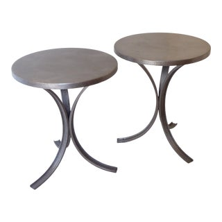 Vintage Modern Steel End Tables - a Pair For Sale