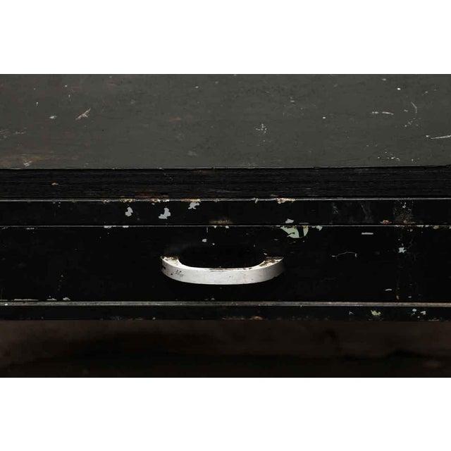Metal Wood Top Black Metal Work Table For Sale - Image 7 of 10