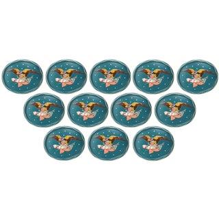 Vintage Federal Bald Eagle Aluminum Trays - Set of 12 For Sale