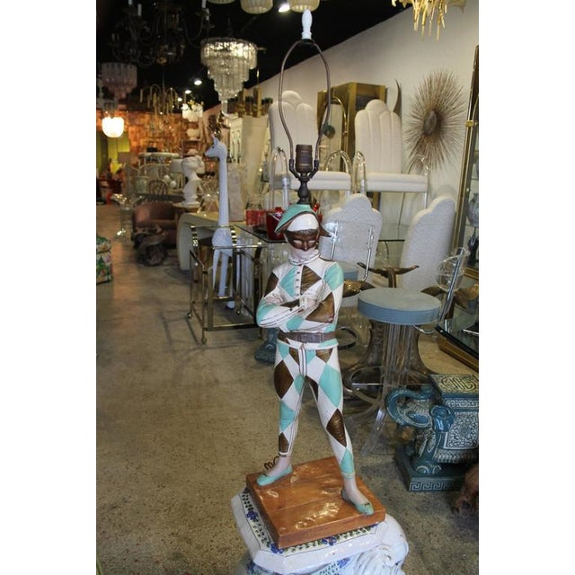 Vintage Harlequin Jester Table Lamp by Marbro - Image 9 of 10