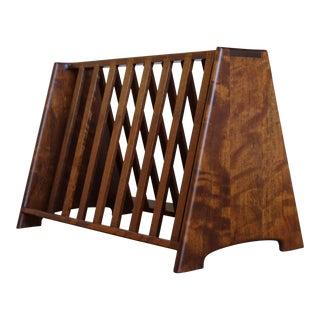 John Nyquist Handcrafted Shedua Walnut Magazine Rack