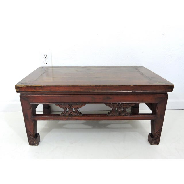 Asian Antique Chinese Wood 'Opium' Side or Coffee Table, 19th Century For Sale - Image 3 of 6