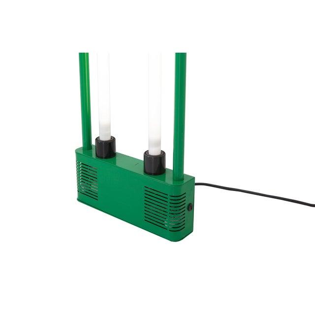 Metal Gian Nicola Gigante Green Neon Floor Lamp For Sale - Image 7 of 8