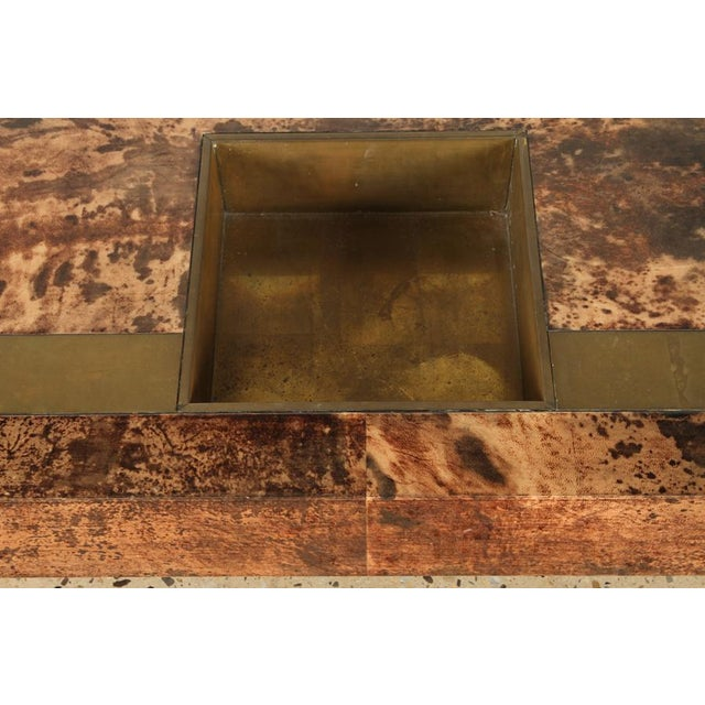 Aldo Tura Goat Skin Coffee Table For Sale - Image 4 of 6