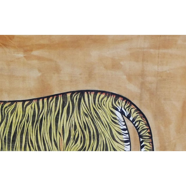 Vintage Large East Asian Tiger Tapestry Rug For Sale - Image 4 of 8