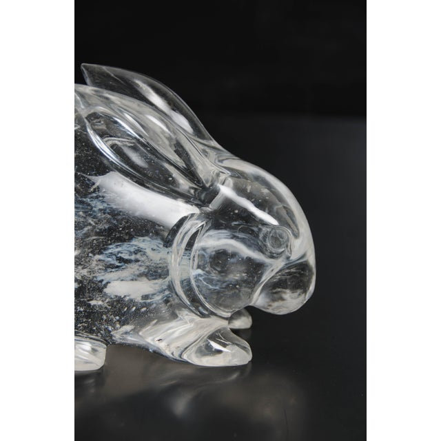 2010s Rabbit in Hand Carved Crystal by Robert Kuo, Limited Edition For Sale - Image 5 of 6