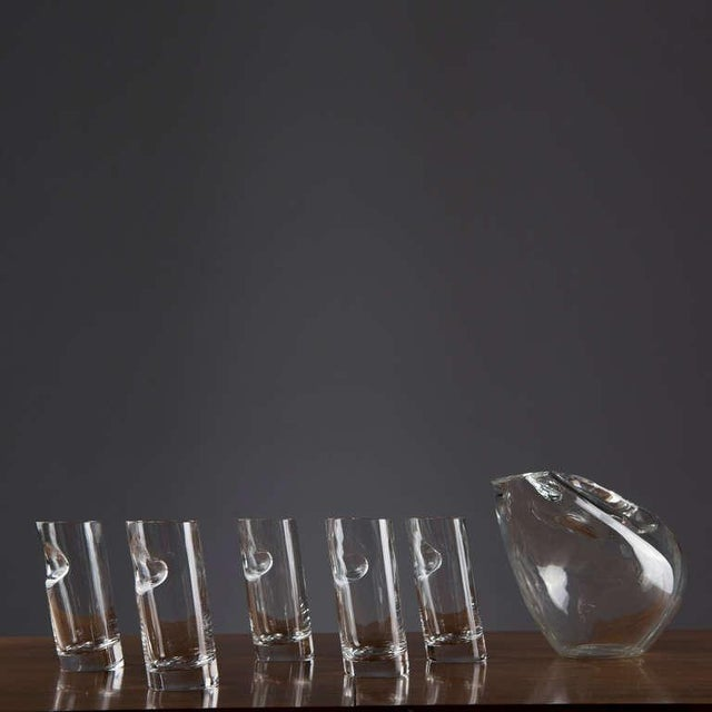 Crystal Pitcher and Glasses by Angelo Mangiarotti For Sale - Image 6 of 9