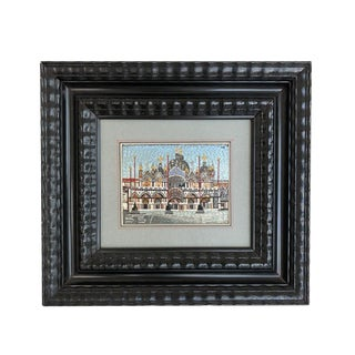 Vintage Mosaic of St. Marks Cathedral Venice, Italy For Sale