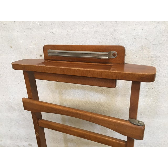 Italian Cherry Valet Stand Dressboy in the Manner of Fratelli Reguitti, 1960s For Sale - Image 10 of 13