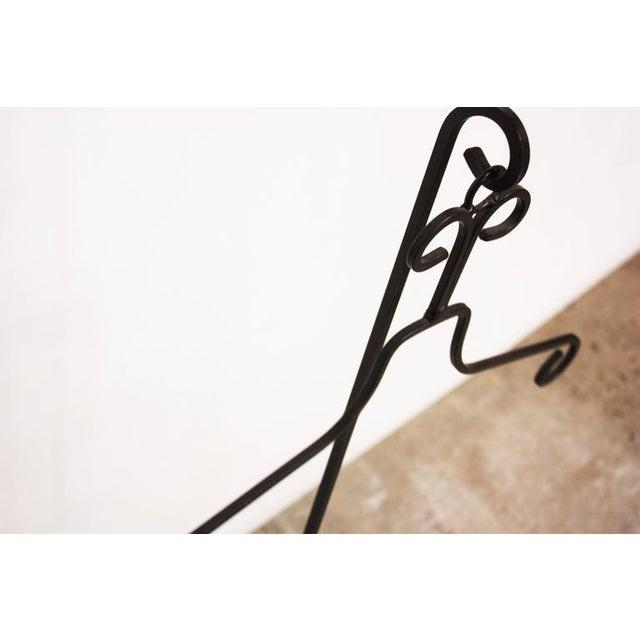Frederick Weinberg Style Iron Tripod Valet - Image 7 of 9