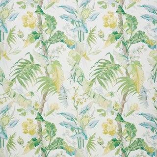 Schumacher Tropique Wallpaper in Citron , Sample For Sale