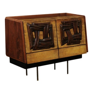 Exquisite Bar Cabinet by Claude Vassal, Circa 1950 For Sale