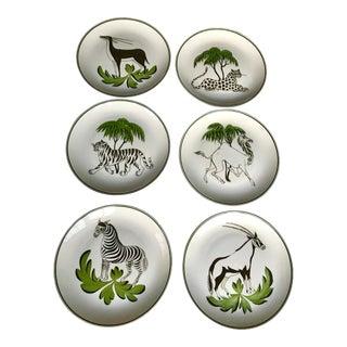Mottahedeh Animal Plates - Set of 6 For Sale