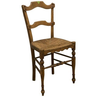 Early 20th Century Antique Rush Chair For Sale
