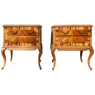 20th Century Pair of French Nightstands With Two Drawers For Sale