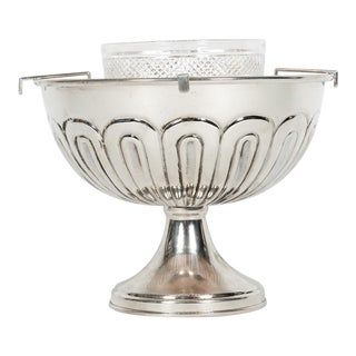 English Sterling Silver Caviar Dish Service For Sale