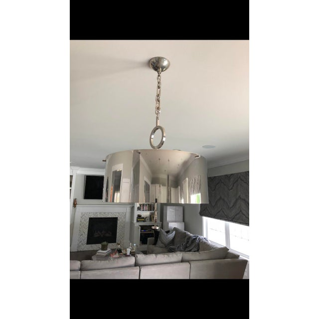 Contemporary Global Views 24 Inch Drum Pendant For Sale - Image 3 of 4