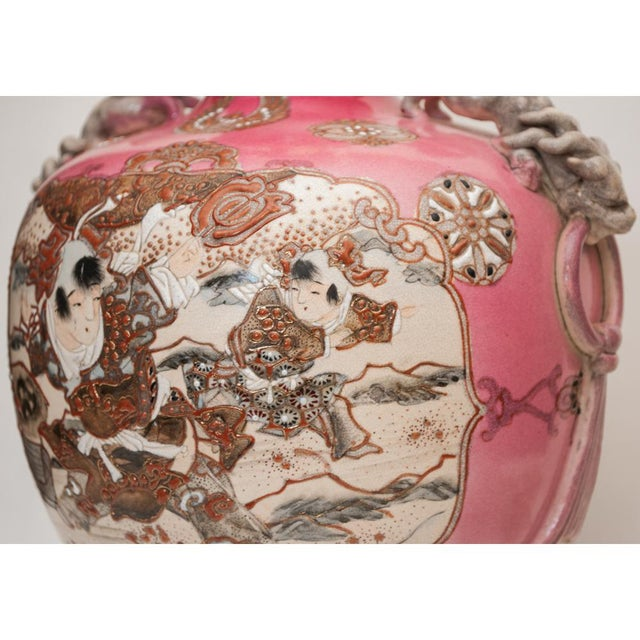 Meiji Era Japanese Satsuma Vase as Lamp For Sale - Image 11 of 13