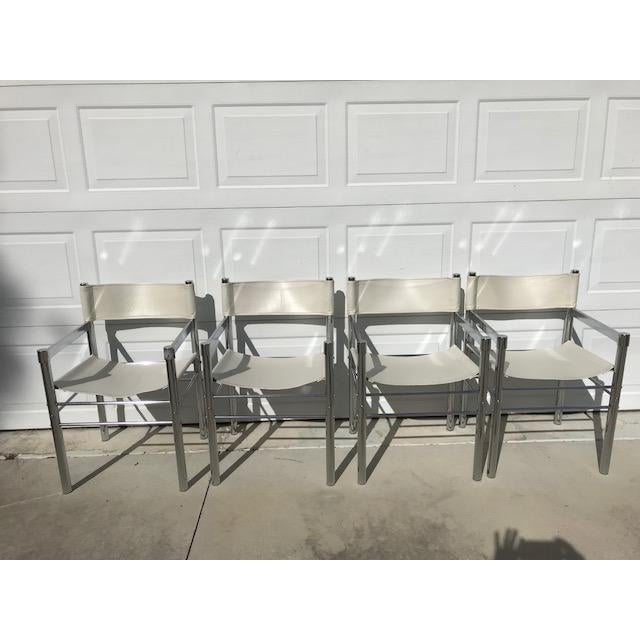 1970's Mod Chrome and Pleather Chairs - Set of 4 For Sale - Image 10 of 10